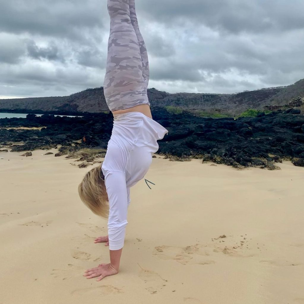 Woman in Handstand